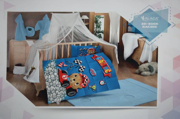 Набор детского постельного белья с одеялом Alaca 3D Racing, фото 2