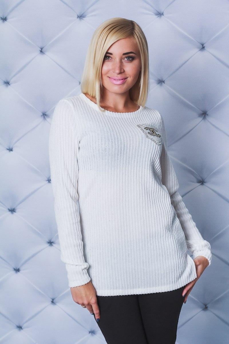 5787839f88240 Кофта с разрезами белая, цена 367 грн., купить в Кременчуге — Prom.ua  (ID#623929584)