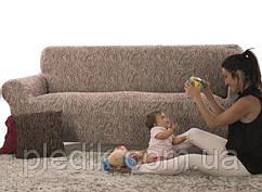 Чохол на диван натяжний 4-х місцевий Іспанія, Fusta Beige Фуста бежевий