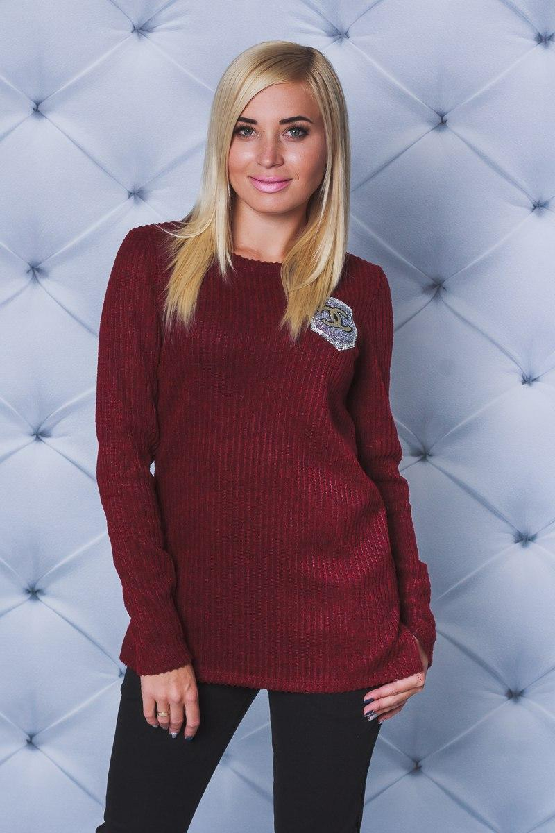 567b9f17f3593 Кофта с разрезами бордо - Интернет магазин одежды Модна Лавка в Кременчуге