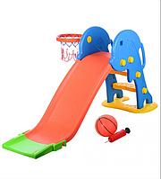 Детская горка YTE00199 с баскетбольным кольцом