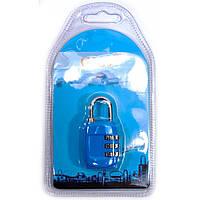 Замок кодовый синий (6х3,5х1,5 см)