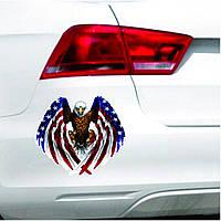 90x80mm Авто Eagle США США Флаг Винил Авто Window Бампер Наклейка Decal