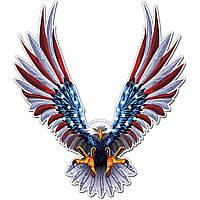 6x6.75 дюймов Винил Авто США Eagle Крылья Соединенные Штаты Флаг Бампер Window Стикеры Decal