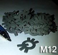 Шайба 12 оцинкованная ГОСТ 11872-89 стопорная многолапчатая