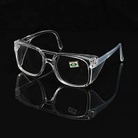 Пластиковые защитные прокладки Очки Прозрачные с защитой боковой оболочки для лаборатории