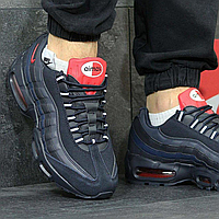 Акция!!!  -  Демисезонные 3840 мужские кроссовки Nike Air Max   темно-синие