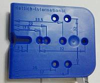 Шаблон кондуктор мебельный сборка фасадов петли минификс конфирмат