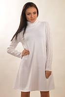 Тёплое платье Аква Зима белый