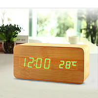 Электронные цифровые настольные часы с температурой VST-862-4 (зеленые цифры)