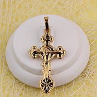 010-0771 - Позолочений кулон-хрест з розп'яттям