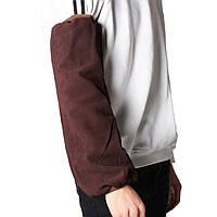 2шт 16-дюймовые сварочные аппараты Сварочные коричневые натуральные кожаные рукава Защитная жарочная пружина Инструмент