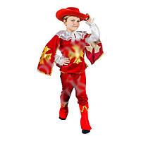 Детский маскарадный костюм для мальчика Мушкетер красный М
