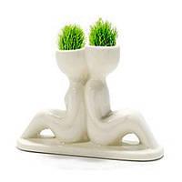 Травянчики двойные бел. / керамический травянчик / эко человечек