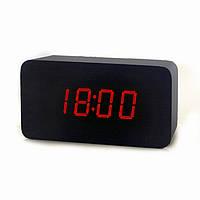 Электронные цифровые настольные часы VST-863-1 (красные цифры)