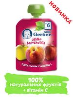 Пюре Gerber Яблоко и персик, 90 г
