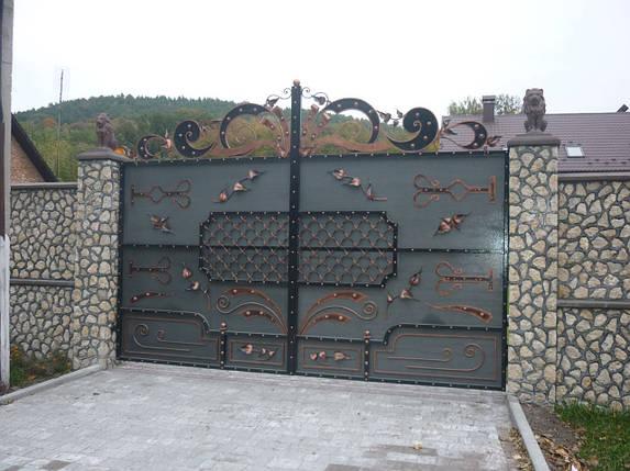 Ворота кованые Кременец, Кременец плюс , фото 2