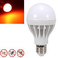 E27 9W Оранжевый 530-590NM Ошибка отторжения комаров LED Лампа Лампа AC220V