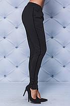 Трикотажные брюки с лампасами черные, фото 3