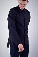 Рубашка мужская черная бренд ТУР модель Sherlock