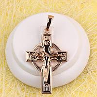 R4-0776 - Кельтський хрест з розп'яттям рожева позолота