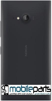 Задняя панель корпуса (крышка) для Nokia 730 Lumia Dual Sim (Черная)
