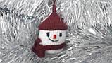 Новогодняя игрушка ручной работы на елку Снеговик, фото 2