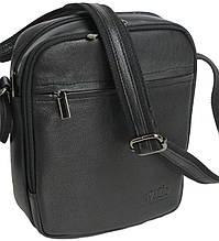 Вертикальна шкіряна чоловіча сумка Always Wild 8021 NDM чорна