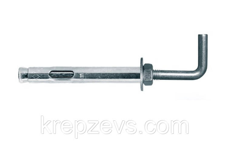 Анкер двохрозпірний з гаком прямим М8/10*70