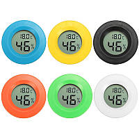 Mini Digital LCD Измеритель влажности температуры Термометр Гигрометр Round