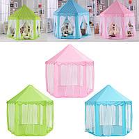 Портативный замок принцессы Играть в палатку Деятельность Fairy House Fun Playhouse Toy 55.1x55.1x53.1 дюймов