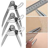 Рисование Измерение Калибровочное расстояние Компас Divider Leather Craft Дизайн Layout Инструмент
