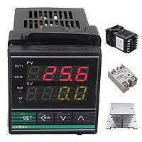 Цифровой терморегулятор температуры ПИД-регулятора SSR-25DA термопары