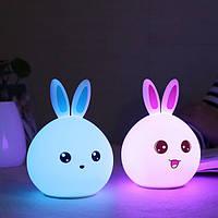 Изменение цвета Силиконовый Ночной кролик кролика Дистанционное Управление Перезаряжаемая прикроватная тумба Лампа