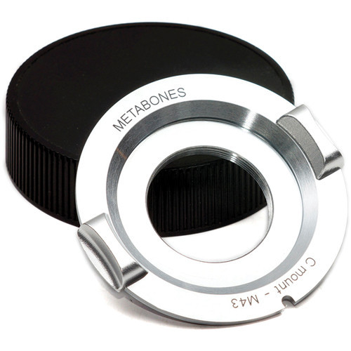 Metabones C-Mount Lens to Micro Four Thirds Lens Mount Adapter (Chrome) (MB_C-M43-CH3)