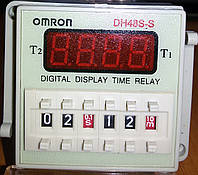 Циклическое реле времени DH48S-S 1Z 220VAC (OMRON), фото 1