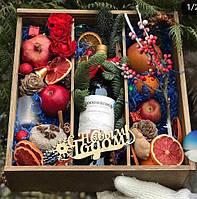 Подарочная коробка под шампанское 3 ячейки