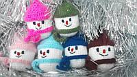 Набор 6 штук Новогодних игрушек ручной работы на елку Снеговик