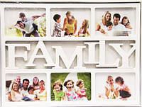Фотоколлаж Family 6 фото белая арт.YY809FA