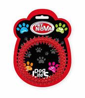 Игрушка для собак Кольцо DentRing PetNova 12.5 cм красный