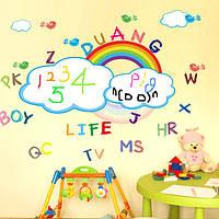 Детская комната декор радуги для печати стикеры стены моющиеся радуги наклейки доски стены