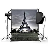 3x5FT Виниловая Эйфелева башня Фоновая фотография Студия Prop Фотосъемка