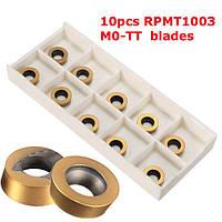 10шт rpmt1003 твердосплавные m0 - тт вставки для ЭМИ emrw серии торцевой фрезы