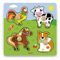 "Рамка-вкладыш Viga Toys ""Ферма"" (50839)"