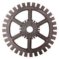 Промышленный стиль Деревянный редуктор настенный декор Античная домашняя паб-бар Висячий художественный декор 40см