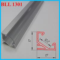 Накладной профиль под LED ленту угловой 3,0 м. Серебро