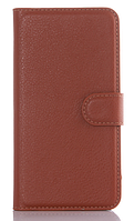 Кожаный чехол-книжка для  Lenovo Vibe S1 коричневый
