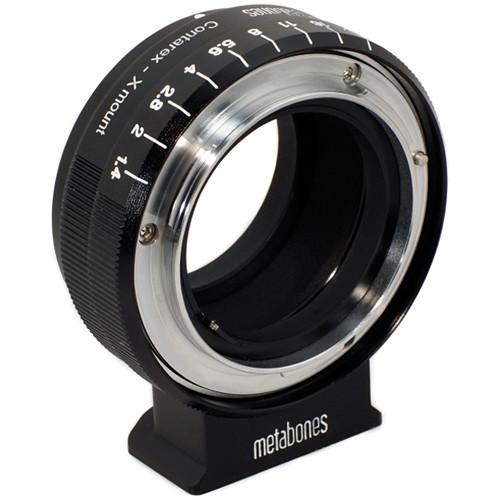 Metabones Contarex Mount Lens to Fujifilm X-Mount Camera Lens Mount Adapter (Black Matte) (MB_CX-X-BM1)