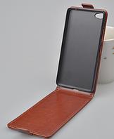 Кожаный чехол флип для Lenovo S60 S60T коричневый