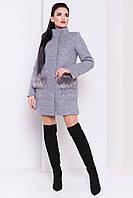 Современное короткое зимнее пальто женское